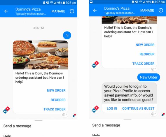 Dominos Messenger Bot