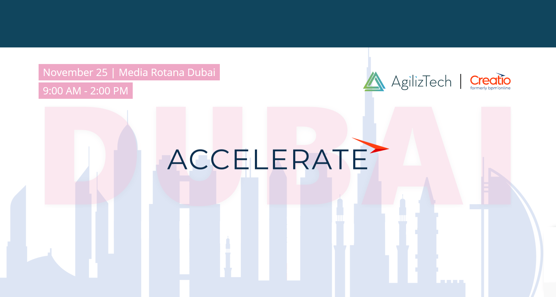 Accelerate Dubai 2019 - CRM Event